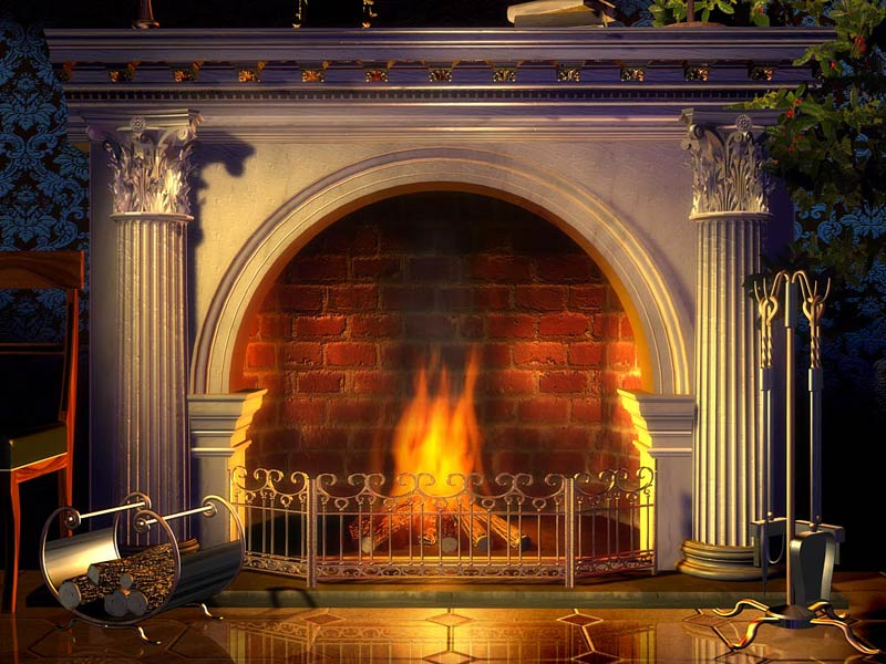 Fantastic Relaxing Fireplace Screensaver.